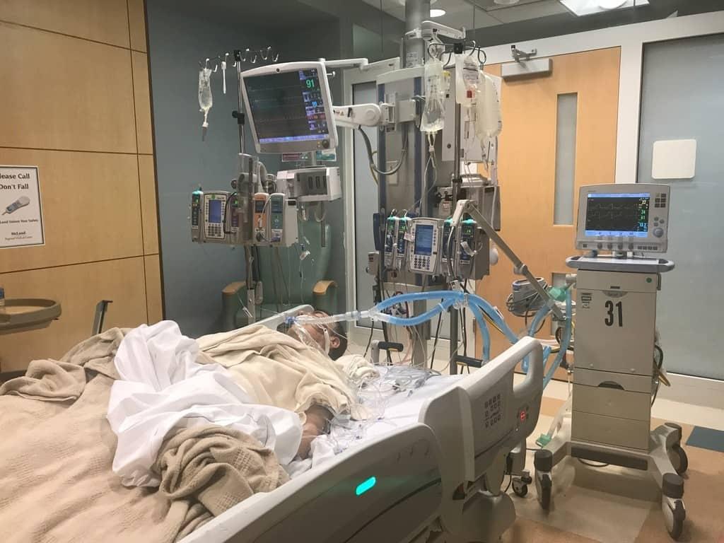 On the Ventilator - Widow Maker Heart Attack - June 11, 2017