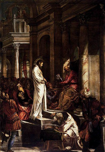 Christ Before Pilate -Jacopo Tintoretto - 1556-1557