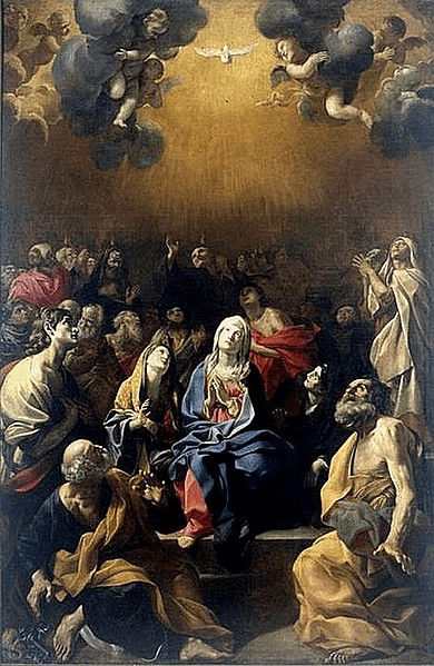 Holy Rosary Glorious Mysteries - Pentecost - Giovanni Lanfranco - 1631