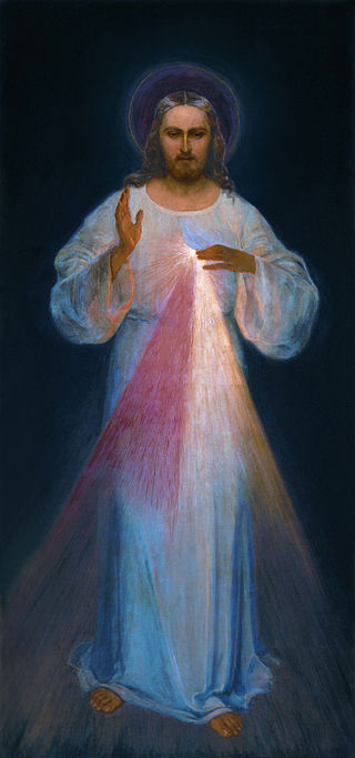 Chaplet of Divine Mercy painting