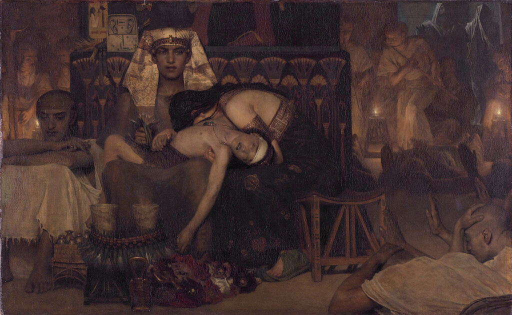 Death of the Pharaoh's Firstborn Son - Painting