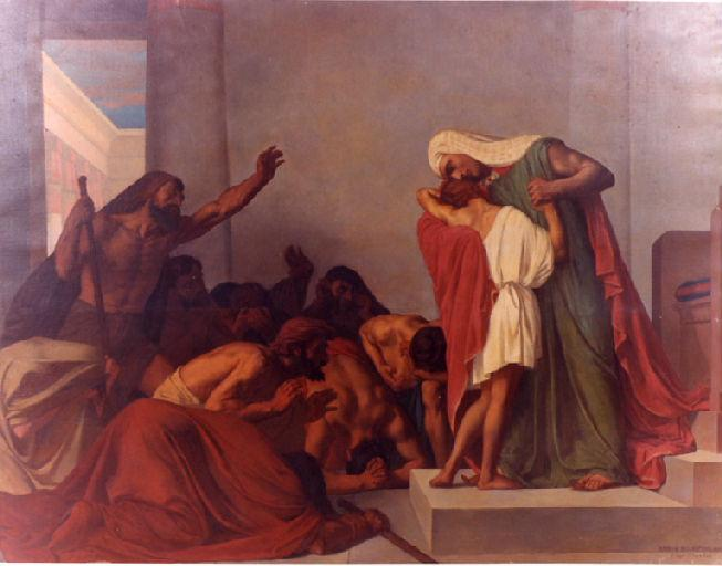 Joseph Recognized by his Brothers - leon Pierre Urbain Bourgeois - 1863