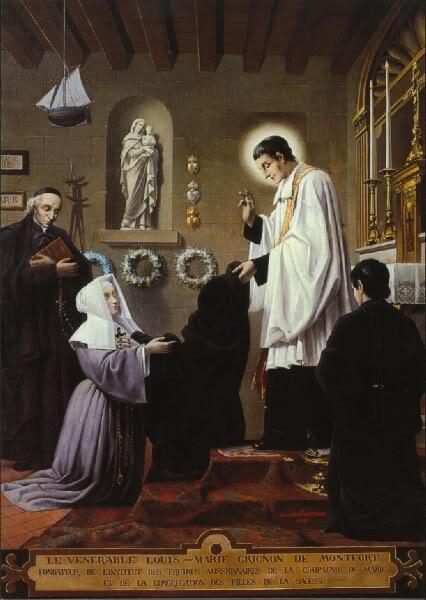 Louis de Montfort with Louise Trichet
