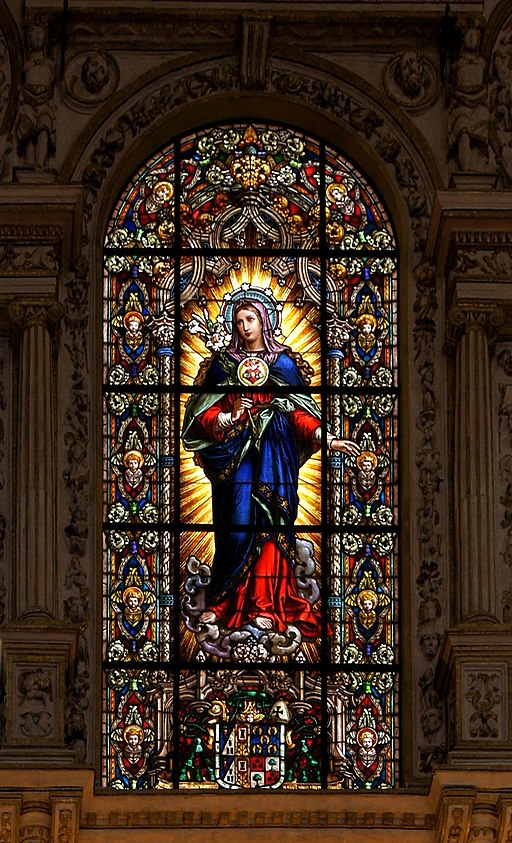 Stained Glass Virgin Mary How to consecrate yourself to marylate